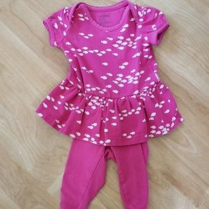 Baby gap one piece pink outfit